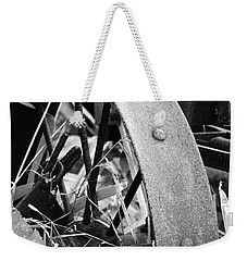 Metal Wheel Weekender Tote Bag