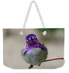 Metalic Hummingbird Weekender Tote Bag by Shoal Hollingsworth