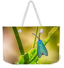 Metallic Forester Moth Weekender Tote Bag