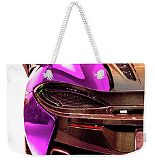 Weekender Tote Bag featuring the photograph Metallic Heartbeat by Karen Wiles
