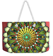 Metallic Mandala Weekender Tote Bag