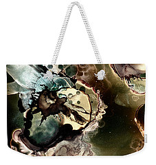 Weekender Tote Bag featuring the painting Metallic Nebula by Patricia Lintner