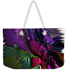 Weekender Tote Bag featuring the digital art Metallic Spring by Sara Raber