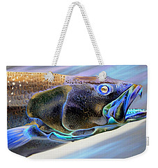 Metallic Trout Weekender Tote Bag by Phyllis Beiser
