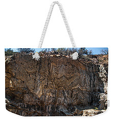 Metamorphic Geologic Wall In Kings Canyon Giant Sequoia National Monument Sequoia National Forest Weekender Tote Bag