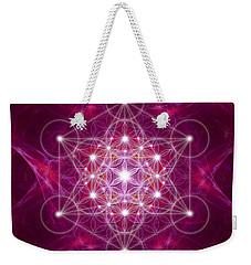 Metatron Cube Fractal Weekender Tote Bag