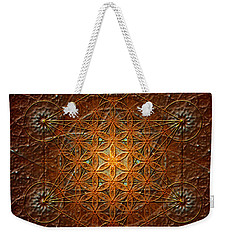 Metatron's Cube Inflower Of Life Weekender Tote Bag