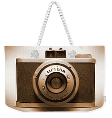 Weekender Tote Bag featuring the photograph Meteor Film Camera by Mike McGlothlen
