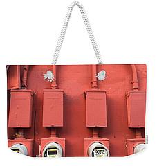 Meter Reader Red 2 Weekender Tote Bag