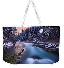Weekender Tote Bag featuring the photograph Metolius Sunset by Cat Connor