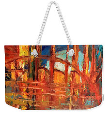 Metropolis In Space Weekender Tote Bag