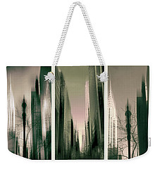Metropolis Triptych Weekender Tote Bag by Jessica Jenney