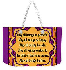 Metta Prayer - Colorful Design Weekender Tote Bag