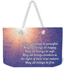 Metta Prayer - Sun - Square Weekender Tote Bag