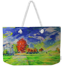Mettmann Golfclub Von Einfahrt   Mettmann Golf Club From Entrance Weekender Tote Bag