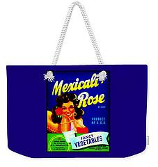 Mexicali Rose Vintage Vegetable Crate Label Weekender Tote Bag by Peter Gumaer Ogden