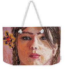 Mexican Girl Weekender Tote Bag