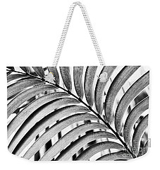Weekender Tote Bag featuring the photograph Mexican Horncone Leaf Monochrome  by Tim Gainey