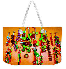Weekender Tote Bag featuring the photograph Mexican Hot Peppers by Sadie Reneau
