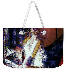 Weekender Tote Bag featuring the photograph Mexican Street Musician by Lori Seaman