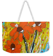 Mexican Sunflowers Flower Garden Weekender Tote Bag