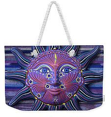 Mexico Sun Face Fantasy Still Life - Blue Sun Face Weekender Tote Bag