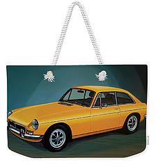 Mgb Gt 1966 Painting  Weekender Tote Bag by Paul Meijering