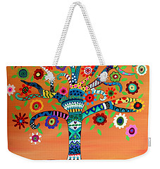 Weekender Tote Bag featuring the painting Mhuri by Pristine Cartera Turkus