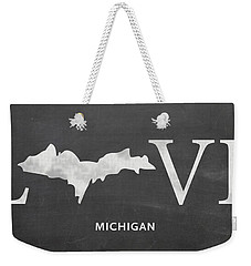 Mi Love Weekender Tote Bag by Nancy Ingersoll