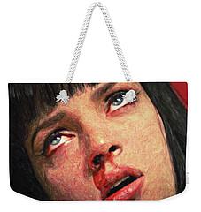 Mia Wallace Weekender Tote Bag by Taylan Apukovska