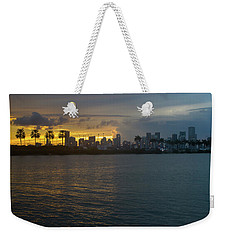 Miami At The Edge Of Twilight Weekender Tote Bag by Ronald Spencer