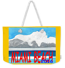 Miami Beach 2016 Weekender Tote Bag by Dick Sauer