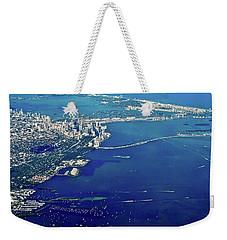 Miami Coastal Aerial Weekender Tote Bag