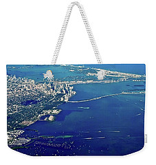 Miami Coastal Aerial Weekender Tote Bag