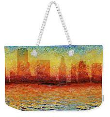 Miami Skyline 5 Weekender Tote Bag