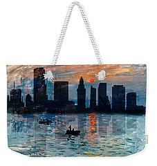 Miami Skyline 7 Weekender Tote Bag