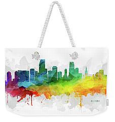 Miami Skyline Mmr-usflmi05 Weekender Tote Bag by Aged Pixel