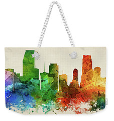 Miami Skyline Panorama Usflmi-pa03 Weekender Tote Bag