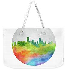 Miami Skyline Usflmi20 Weekender Tote Bag by Aged Pixel