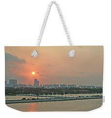 Miami Sunrise Weekender Tote Bag
