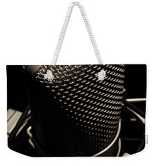 Weekender Tote Bag featuring the photograph Mic by Brian Jones