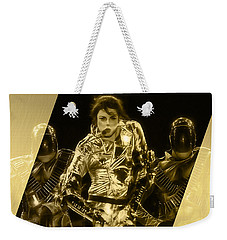 Michael Jackson Gold Weekender Tote Bag
