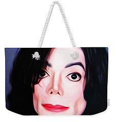 Michael Jackson Mugshot Weekender Tote Bag by Bill Cannon