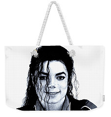 Weekender Tote Bag featuring the drawing Michael Jackson Pencil Drawing  by Movie Poster Prints