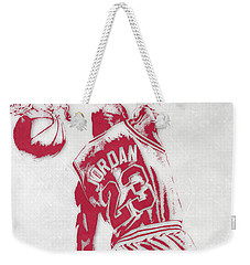 Michael Jordan Chicago Bulls Pixel Art 1 Weekender Tote Bag