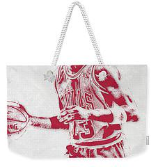Michael Jordan Chicago Bulls Pixel Art 2 Weekender Tote Bag