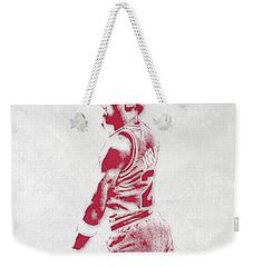 Michael Jordan Chicago Bulls Pixel Art 3 Weekender Tote Bag