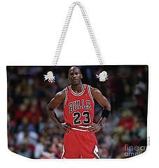 Michael Jordan, Number 23, Chicago Bulls Weekender Tote Bag by Thomas Pollart