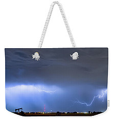Weekender Tote Bag featuring the photograph Michelangelo Lightning Strikes Oil by James BO Insogna