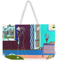 Weekender Tote Bag featuring the painting Michele In Paris  By Bill O'connor by Bill OConnor